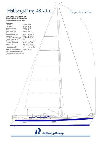 Hallberg-Rassy 48 Standard specifications