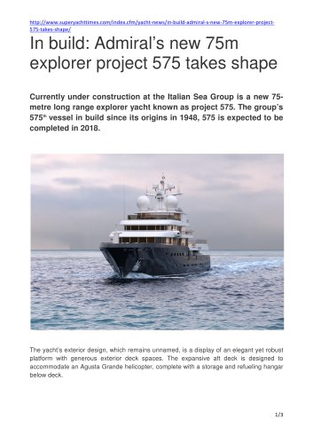 In build: Admiral's new 75m