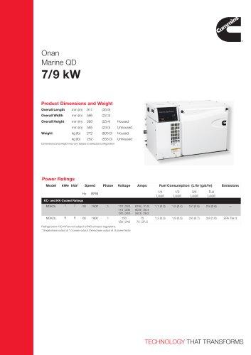 Onan Marine QD 7/9 kW