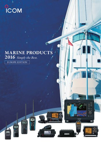 MARINE PRODUCTS 2016 (EUROPE EDITION)