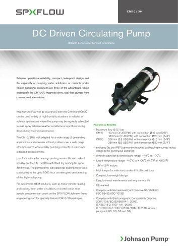 DC Driven Circulating Pump CM 10-30