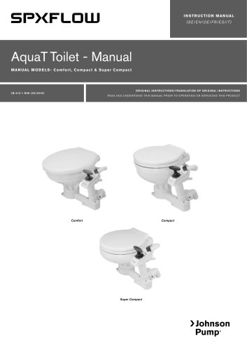 Marine Lavatory Systems AquaT Manual Toilets