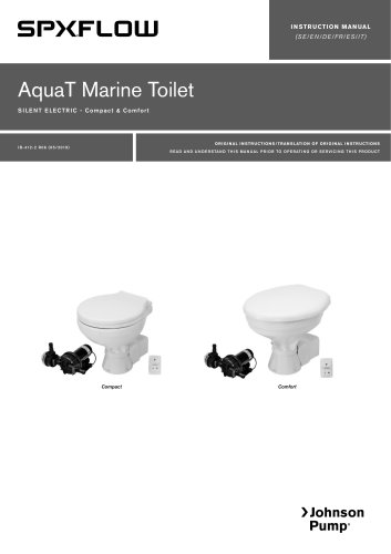 Marine Lavatory Systems AquaT Silent Electric Toilets