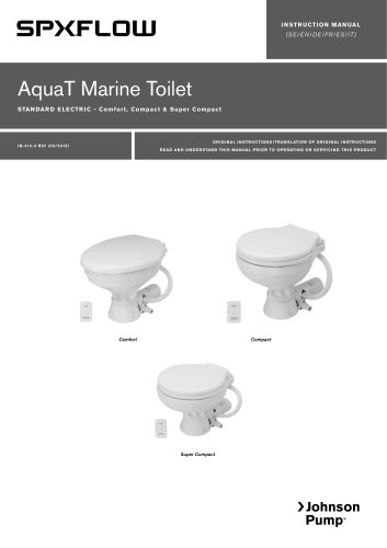 Marine Lavatory Systems AquaT Standard Electric Toilets