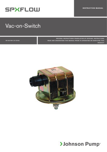 Vacuum Switch manual ‖ EN, DE, ES, FR, IT, SV
