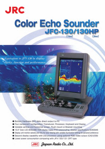 Color Echo Sounder JFC-130(1kW)/130HP(3kW)