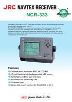 NAVTEX RECEIVER for GMDSS NCR-333