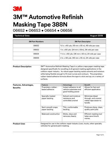 3M™ Automotive Refinish Masking Tape 388N