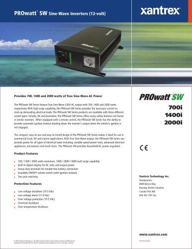 PROwatt TM  SW Sine-Wave Inverters (12-volt)