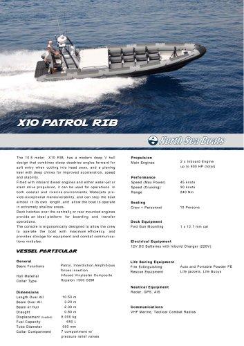 X10 Patrol RIB