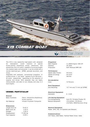 X19 Combat  Boat