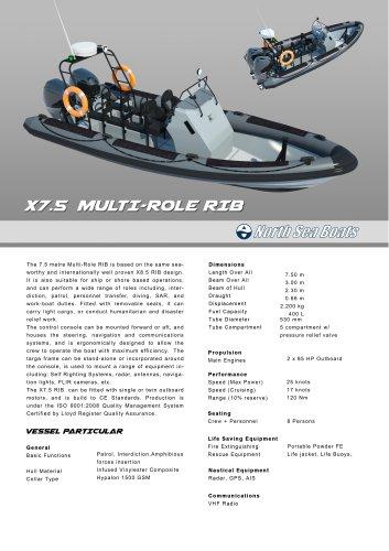 X7.5 Multi-Role RIB