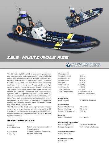 X8.5 Multi-Role RIB