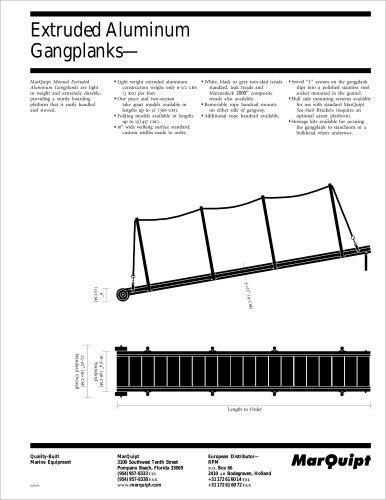 Extruded Aluminum Gangplanks