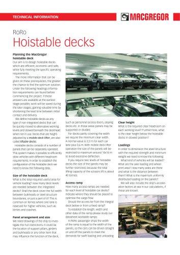 Hoistable decks