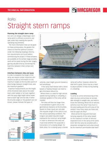 Straight stern ramps