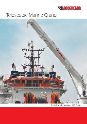Telescopic marine crane