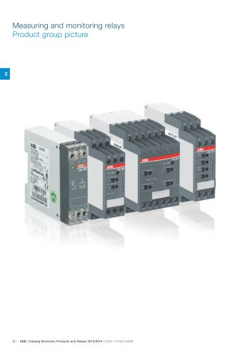 Catalog 2013/2014 Electronic Products and Relays - Chapter Measuring and Monitoring Relays