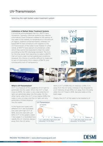 Ballast Water Treatment Systems - UV-Transmission