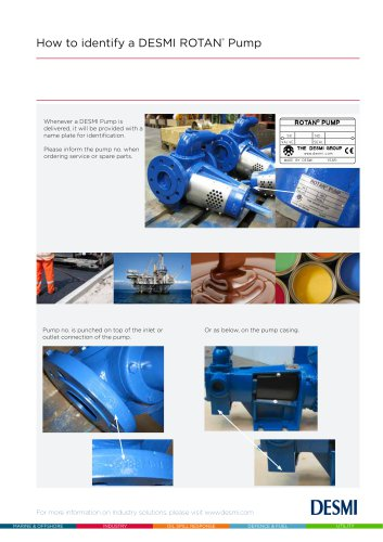 How to identify a ROTAN pump