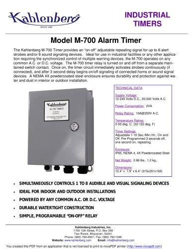 Industrial Alarm Timer, Model M-700