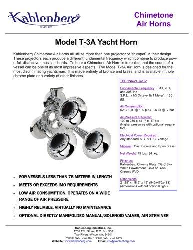 Model T-3A Yacht Horn
