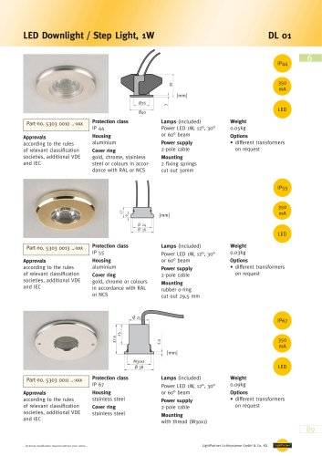 DL 01 LED Downlight / Step Light