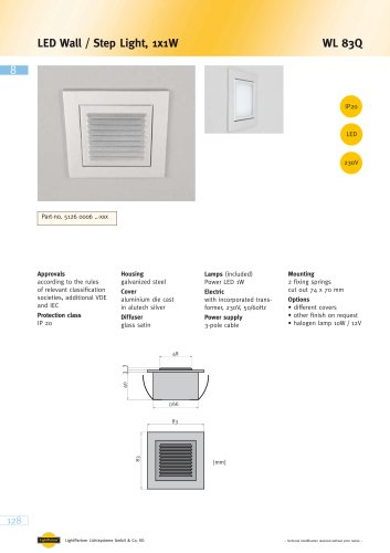 WL 83Q LED Wall / Step Light