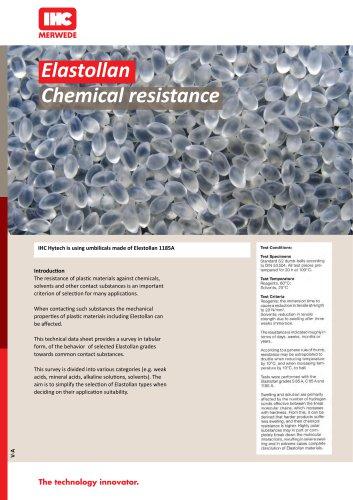 Elastollan Chemical resistance