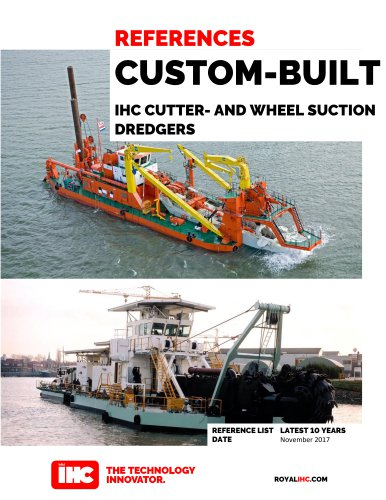 IHC CUTTER- AND WHEEL SUCTION DREDGERS