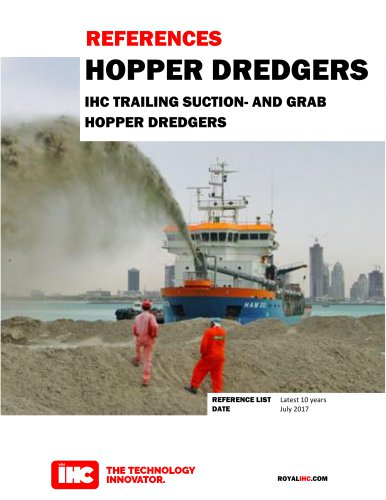 REFERENCES HOPPER DREDGERS IHC TRAILING HOPPER DREDGERS SUCTION- AND GRAB