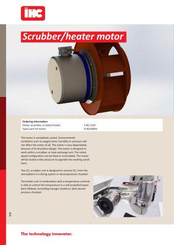 Scrubber/heater motor