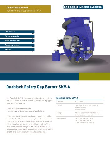 Duoblock rotary cup burner SKV-A