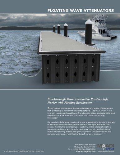 Floating breakwater system