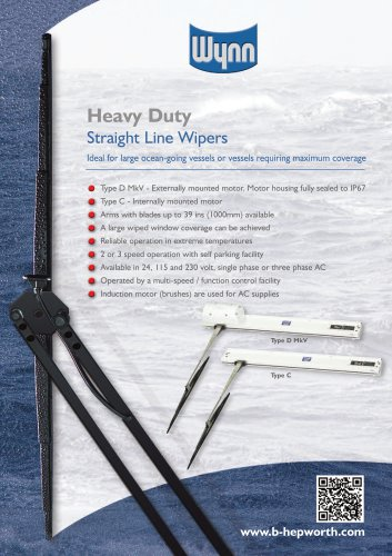 Wynn Type C & D Mk5 - Heavy Duty Straight Line Wipers