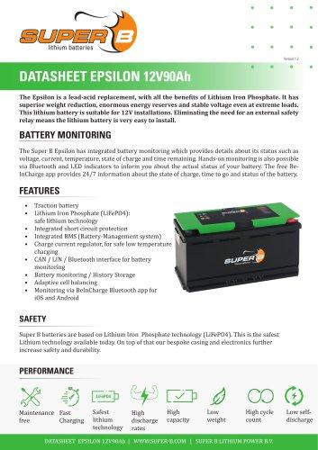 Datasheet Epsilon 12V90Ah