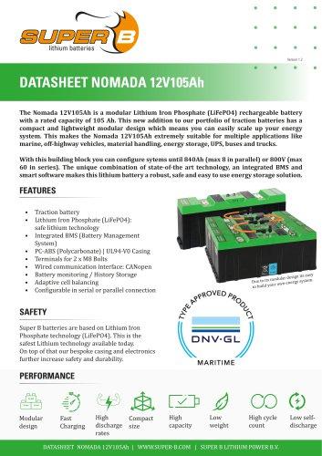 Datasheet Nomada 12V105Ah