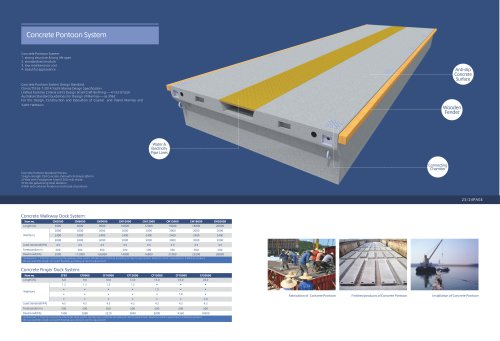 Concrete Walkway Dock System