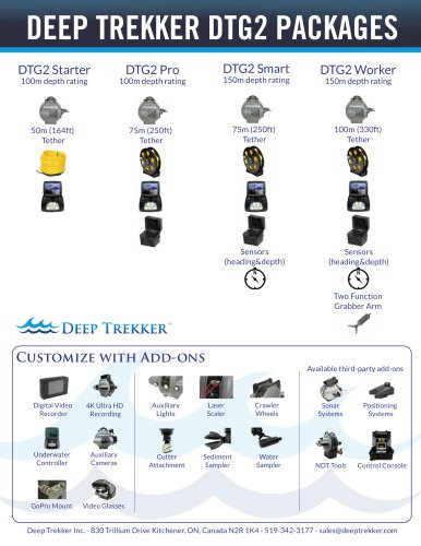 DEEP TREKKER DTG2 PACKAGES