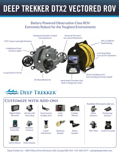 DEEP TREKKER DTX2 VECTORED ROV