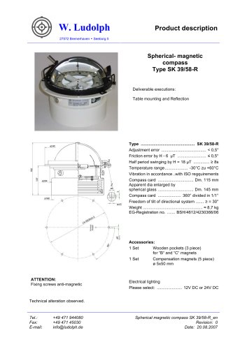 Spherical Compass SK 39/58-R