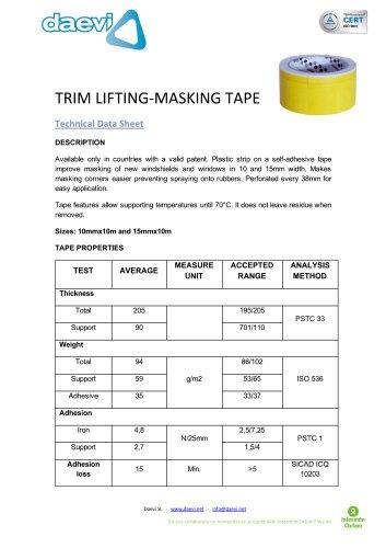 Trim-lifting Masking tape