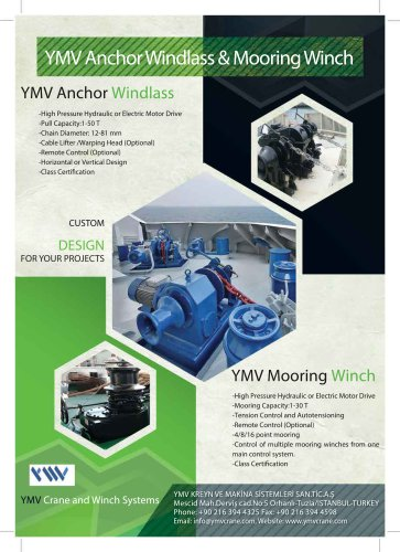 YMV Anchor Windlass Mooring Winch Brochure
