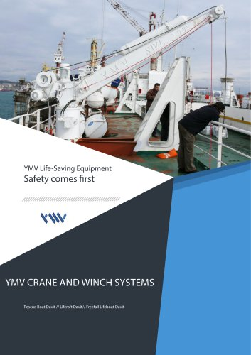 YMV rescue boat davit catalogue