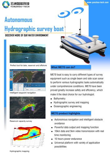 USV ME70 for Hydrographic Survey
