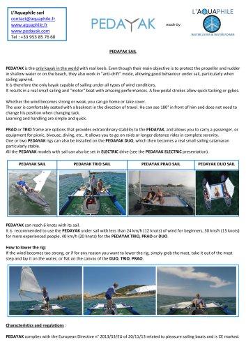 PEDAYAK with sail