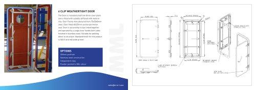6 Clip External Weathertight Door