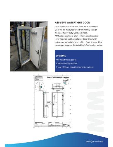 A60 Semi Watertight Door